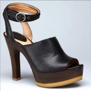 """❤️ FRYE Kara Trapunto Slide 5"""" Cork Heel"""